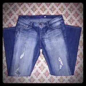 Vigoss Distressed Skinny Jeans Juniors Size 7
